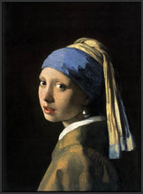 60185_FB4_- titled 'Girl with a Pearl Earring' by artist Jan Vermeer - Wall Art Print on Textured Fine Art Canvas or Paper - Digital Giclee reproduction of art painting. Red Sky Art is India's Online Art Gallery for Home Decor - V108