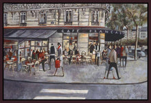 222281_FD2 'Shopping in Paris' by artist Didier Lourenco - Wall Art Print on Textured Fine Art Canvas or Paper - Digital Giclee reproduction of art painting. Red Sky Art is India's Online Art Gallery for Home Decor - 111_LDP355