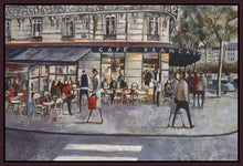 222281_FD4 'Shopping in Paris' by artist Didier Lourenco - Wall Art Print on Textured Fine Art Canvas or Paper - Digital Giclee reproduction of art painting. Red Sky Art is India's Online Art Gallery for Home Decor - 111_LDP355