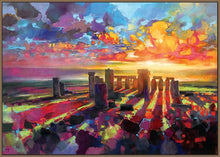 45129_FN1 - titled 'Stonehenge Equinox' by artist Scott Naismith - Wall Art Print on Textured Fine Art Canvas or Paper - Digital Giclee reproduction of art painting. Red Sky Art is India's Online Art Gallery for Home Decor - 55_WDC96373