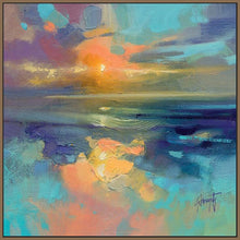 45137_FN1 - titled 'Cerulean Cyan Study' by artist Scott Naismith - Wall Art Print on Textured Fine Art Canvas or Paper - Digital Giclee reproduction of art painting. Red Sky Art is India's Online Art Gallery for Home Decor - 55_WDC98169