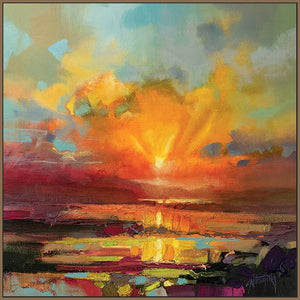 45140_FN1 - titled 'Optimism Sunrise Study' by artist Scott Naismith - Wall Art Print on Textured Fine Art Canvas or Paper - Digital Giclee reproduction of art painting. Red Sky Art is India's Online Art Gallery for Home Decor - 55_WDC98173