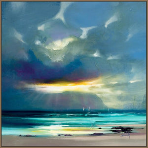 45142_FN1 - titled 'West Coast Blues II' by artist Scott Naismith - Wall Art Print on Textured Fine Art Canvas or Paper - Digital Giclee reproduction of art painting. Red Sky Art is India's Online Art Gallery for Home Decor - 55_WDC98211
