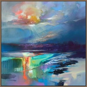 45167_FN1 - titled 'Arran Shore' by artist Scott Naismith - Wall Art Print on Textured Fine Art Canvas or Paper - Digital Giclee reproduction of art painting. Red Sky Art is India's Online Art Gallery for Home Decor - 55_WDC98329