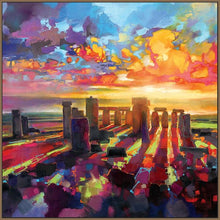 45175_FN1 - titled 'Stonehenge Equinox' by artist Scott Naismith - Wall Art Print on Textured Fine Art Canvas or Paper - Digital Giclee reproduction of art painting. Red Sky Art is India's Online Art Gallery for Home Decor - 55_WDC98337