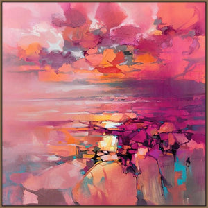 45182_FN1 - titled 'Coral' by artist Scott Naismith - Wall Art Print on Textured Fine Art Canvas or Paper - Digital Giclee reproduction of art painting. Red Sky Art is India's Online Art Gallery for Home Decor - 55_WDC98357