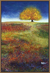 34513_FN1_- titled 'Dreaming Tree In The Field' by artist Melissa Graves-Brown - Wall Art Print on Textured Fine Art Canvas or Paper - Digital Giclee reproduction of art painting. Red Sky Art is India's Online Art Gallery for Home Decor - 761_TR15463