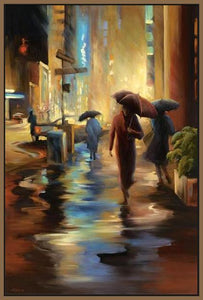 34826_FN1_- titled 'Urban Reflections' by artist Carol Jessen - Wall Art Print on Textured Fine Art Canvas or Paper - Digital Giclee reproduction of art painting. Red Sky Art is India's Online Art Gallery for Home Decor - 761_TR7316