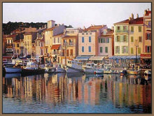 35126_FN1_- titled 'Cassis' by artist Tom Swimm - Wall Art Print on Textured Fine Art Canvas or Paper - Digital Giclee reproduction of art painting. Red Sky Art is India's Online Art Gallery for Home Decor - 763_TR21066