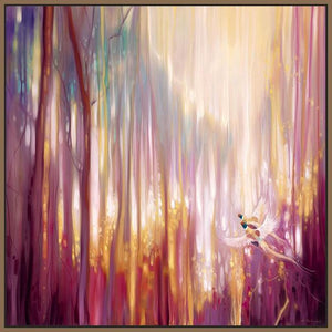60006_FN1_- titled 'Nebulous Forest' by artist  Gill Bustamante - Wall Art Print on Textured Fine Art Canvas or Paper - Digital Giclee reproduction of art painting. Red Sky Art is India's Online Art Gallery for Home Decor - B4363