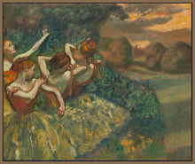 60244_FN1_- titled 'Four Dancers' by artist Edgar Degas - Wall Art Print on Textured Fine Art Canvas or Paper - Digital Giclee reproduction of art painting. Red Sky Art is India's Online Art Gallery for Home Decor - D2493