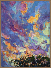 60118_FN1_- titled 'California Sky (top left)' by artist Erin Hanson - Wall Art Print on Textured Fine Art Canvas or Paper - Digital Giclee reproduction of art painting. Red Sky Art is India's Online Art Gallery for Home Decor - H2817