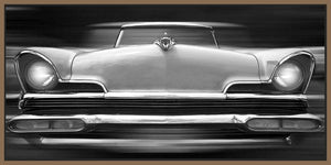 60260_FN1_- titled 'Lincoln Continental' by artist Richard James - Wall Art Print on Textured Fine Art Canvas or Paper - Digital Giclee reproduction of art painting. Red Sky Art is India's Online Art Gallery for Home Decor - J635