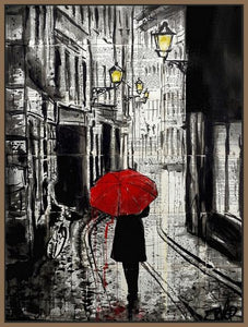 60124_FN1_- titled 'The Delightful Walk' by artist Loui Jover - Wall Art Print on Textured Fine Art Canvas or Paper - Digital Giclee reproduction of art painting. Red Sky Art is India's Online Art Gallery for Home Decor - J885