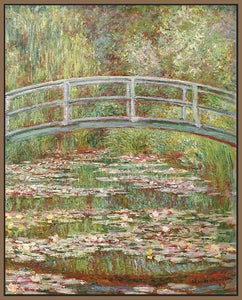 60200_FN1_- titled 'Water Lily Pond, 1899 ' by artist  Claude Monet - Wall Art Print on Textured Fine Art Canvas or Paper - Digital Giclee reproduction of art painting. Red Sky Art is India's Online Art Gallery for Home Decor - M2031