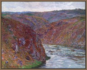 60174_FN1_- titled 'Valley of the Creuse (Gray Day), 1889 ' by artist  Claude Monet - Wall Art Print on Textured Fine Art Canvas or Paper - Digital Giclee reproduction of art painting. Red Sky Art is India's Online Art Gallery for Home Decor - M2605