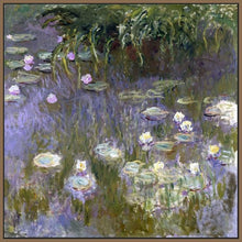 60030_FN1_- titled 'Water Lilies, 1922 ' by artist  Claude Monet - Wall Art Print on Textured Fine Art Canvas or Paper - Digital Giclee reproduction of art painting. Red Sky Art is India's Online Art Gallery for Home Decor - M3061