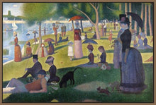 60109_FN1_- titled 'Sunday Afternoon on the Island of Grande Jatte 1864' by artist Georges Seurat - Wall Art Print on Textured Fine Art Canvas or Paper - Digital Giclee reproduction of art painting. Red Sky Art is India's Online Art Gallery for Home Decor - S1615