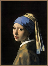 60185_FN1_- titled 'Girl with a Pearl Earring' by artist Jan Vermeer - Wall Art Print on Textured Fine Art Canvas or Paper - Digital Giclee reproduction of art painting. Red Sky Art is India's Online Art Gallery for Home Decor - V108