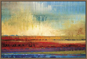 34602_FN2_- titled 'Horizons I' by artist Selina Rodriguez - Wall Art Print on Textured Fine Art Canvas or Paper - Digital Giclee reproduction of art painting. Red Sky Art is India's Online Art Gallery for Home Decor - 761_TR13564