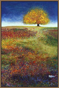 34513_FN2_- titled 'Dreaming Tree In The Field' by artist Melissa Graves-Brown - Wall Art Print on Textured Fine Art Canvas or Paper - Digital Giclee reproduction of art painting. Red Sky Art is India's Online Art Gallery for Home Decor - 761_TR15463