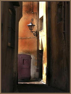 34761_FN2_- titled 'Siena Alley II' by artist Jim Chamberlain - Wall Art Print on Textured Fine Art Canvas or Paper - Digital Giclee reproduction of art painting. Red Sky Art is India's Online Art Gallery for Home Decor - 761_TR8930