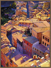35128_FN2_- titled 'Above Siena' by artist Tom Swimm - Wall Art Print on Textured Fine Art Canvas or Paper - Digital Giclee reproduction of art painting. Red Sky Art is India's Online Art Gallery for Home Decor - 762_TR18599