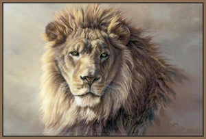 60101_FN2_- titled 'His Majesty' by artist Kalon Baughan - Wall Art Print on Textured Fine Art Canvas or Paper - Digital Giclee reproduction of art painting. Red Sky Art is India's Online Art Gallery for Home Decor - B2055