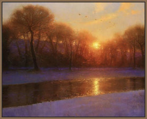 60172_FN2_- titled 'Morning on the Missouri ' by artist  Brent Cotton - Wall Art Print on Textured Fine Art Canvas or Paper - Digital Giclee reproduction of art painting. Red Sky Art is India's Online Art Gallery for Home Decor - C3140