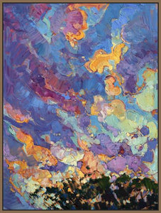 60118_FN2_- titled 'California Sky (top left)' by artist Erin Hanson - Wall Art Print on Textured Fine Art Canvas or Paper - Digital Giclee reproduction of art painting. Red Sky Art is India's Online Art Gallery for Home Decor - H2817
