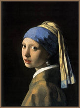 60185_FN2_- titled 'Girl with a Pearl Earring' by artist Jan Vermeer - Wall Art Print on Textured Fine Art Canvas or Paper - Digital Giclee reproduction of art painting. Red Sky Art is India's Online Art Gallery for Home Decor - V108
