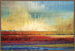 34602_FN3_- titled 'Horizons I' by artist Selina Rodriguez - Wall Art Print on Textured Fine Art Canvas or Paper - Digital Giclee reproduction of art painting. Red Sky Art is India's Online Art Gallery for Home Decor - 761_TR13564