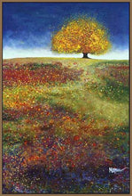 34513_FN3_- titled 'Dreaming Tree In The Field' by artist Melissa Graves-Brown - Wall Art Print on Textured Fine Art Canvas or Paper - Digital Giclee reproduction of art painting. Red Sky Art is India's Online Art Gallery for Home Decor - 761_TR15463