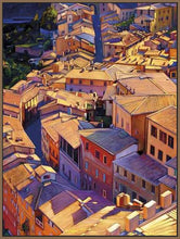 35128_FN3_- titled 'Above Siena' by artist Tom Swimm - Wall Art Print on Textured Fine Art Canvas or Paper - Digital Giclee reproduction of art painting. Red Sky Art is India's Online Art Gallery for Home Decor - 762_TR18599