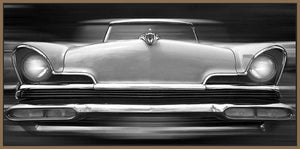 60260_FN3_- titled 'Lincoln Continental' by artist Richard James - Wall Art Print on Textured Fine Art Canvas or Paper - Digital Giclee reproduction of art painting. Red Sky Art is India's Online Art Gallery for Home Decor - J635
