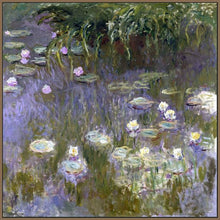 60030_FN3_- titled 'Water Lilies, 1922 ' by artist  Claude Monet - Wall Art Print on Textured Fine Art Canvas or Paper - Digital Giclee reproduction of art painting. Red Sky Art is India's Online Art Gallery for Home Decor - M3061