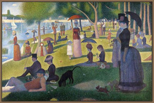 60109_FN3_- titled 'Sunday Afternoon on the Island of Grande Jatte 1864' by artist Georges Seurat - Wall Art Print on Textured Fine Art Canvas or Paper - Digital Giclee reproduction of art painting. Red Sky Art is India's Online Art Gallery for Home Decor - S1615