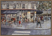 222281_FN4 'Shopping in Paris' by artist Didier Lourenco - Wall Art Print on Textured Fine Art Canvas or Paper - Digital Giclee reproduction of art painting. Red Sky Art is India's Online Art Gallery for Home Decor - 111_LDP355