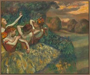 60244_FN4_- titled 'Four Dancers' by artist Edgar Degas - Wall Art Print on Textured Fine Art Canvas or Paper - Digital Giclee reproduction of art painting. Red Sky Art is India's Online Art Gallery for Home Decor - D2493