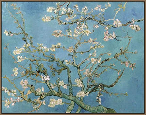 60241_FN4_- titled 'Almond Blossom, 1890' by artist Vincent van Gogh - Wall Art Print on Textured Fine Art Canvas or Paper - Digital Giclee reproduction of art painting. Red Sky Art is India's Online Art Gallery for Home Decor - V401