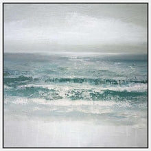 222187_FW1 'Waves' by artist Caroline Gold - Wall Art Print on Textured Fine Art Canvas or Paper - Digital Giclee reproduction of art painting. Red Sky Art is India's Online Art Gallery for Home Decor - 111_16508