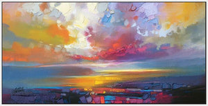 45102_FW1 - titled 'Uig Clouds' by artist Scott Naismith - Wall Art Print on Textured Fine Art Canvas or Paper - Digital Giclee reproduction of art painting. Red Sky Art is India's Online Art Gallery for Home Decor - 55_WDC93190