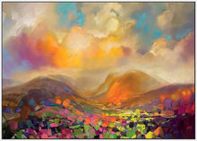 45115_FW1 - titled 'Nevis Range Colour' by artist Scott Naismith - Wall Art Print on Textured Fine Art Canvas or Paper - Digital Giclee reproduction of art painting. Red Sky Art is India's Online Art Gallery for Home Decor - 55_WDC96317