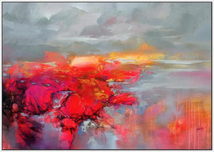 45120_FW1 - titled 'Molecular Bonds 2' by artist Scott Naismith - Wall Art Print on Textured Fine Art Canvas or Paper - Digital Giclee reproduction of art painting. Red Sky Art is India's Online Art Gallery for Home Decor - 55_WDC96338