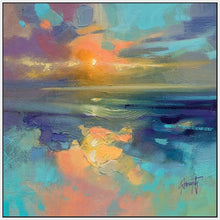 45137_FW1 - titled 'Cerulean Cyan Study' by artist Scott Naismith - Wall Art Print on Textured Fine Art Canvas or Paper - Digital Giclee reproduction of art painting. Red Sky Art is India's Online Art Gallery for Home Decor - 55_WDC98169