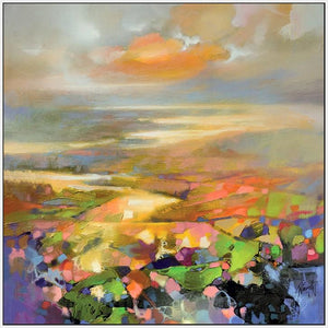 45139_FW1 - titled 'Highland Terrain' by artist Scott Naismith - Wall Art Print on Textured Fine Art Canvas or Paper - Digital Giclee reproduction of art painting. Red Sky Art is India's Online Art Gallery for Home Decor - 55_WDC98172