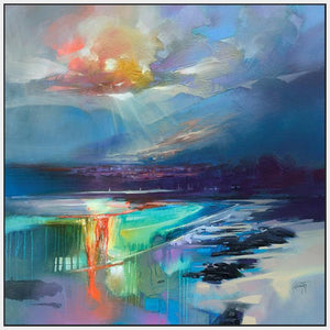 45167_FW1 - titled 'Arran Shore' by artist Scott Naismith - Wall Art Print on Textured Fine Art Canvas or Paper - Digital Giclee reproduction of art painting. Red Sky Art is India's Online Art Gallery for Home Decor - 55_WDC98329