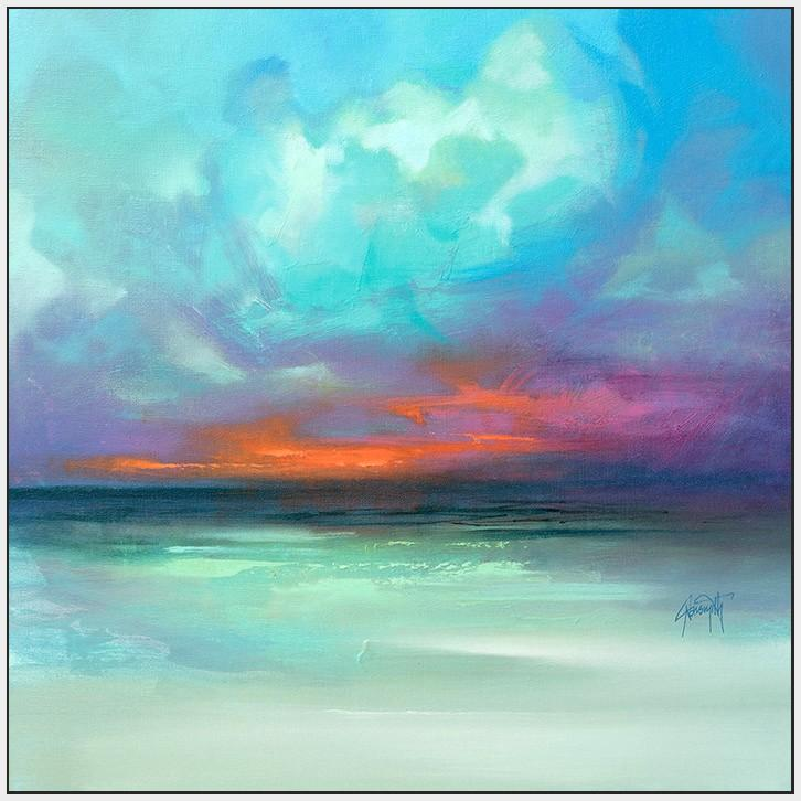 45179_FW1 - titled 'Hebridean Tranquility' by artist Scott Naismith - Wall Art Print on Textured Fine Art Canvas or Paper - Digital Giclee reproduction of art painting. Red Sky Art is India's Online Art Gallery for Home Decor - 55_WDC98354