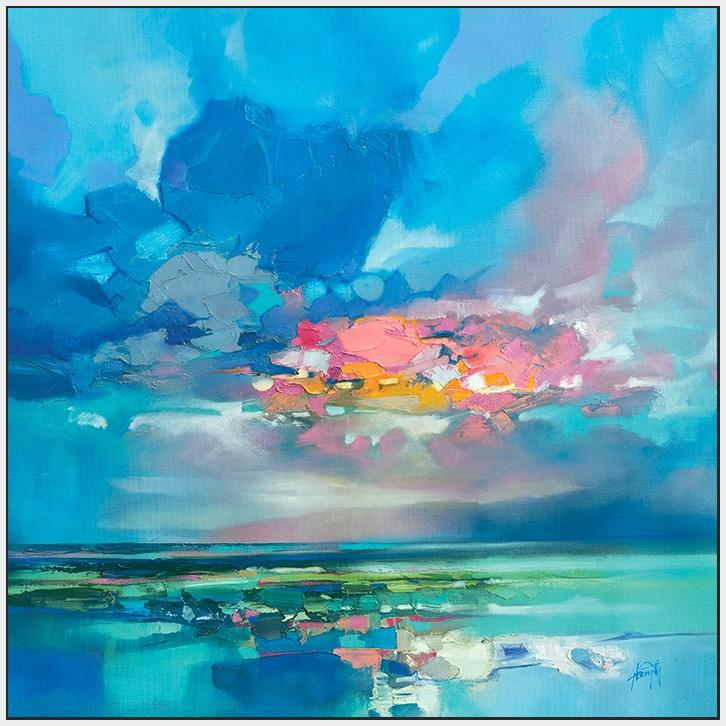 45181_FW1 - titled 'Arran Blue' by artist Scott Naismith - Wall Art Print on Textured Fine Art Canvas or Paper - Digital Giclee reproduction of art painting. Red Sky Art is India's Online Art Gallery for Home Decor - 55_WDC98356