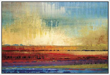 34602_FW1_- titled 'Horizons I' by artist Selina Rodriguez - Wall Art Print on Textured Fine Art Canvas or Paper - Digital Giclee reproduction of art painting. Red Sky Art is India's Online Art Gallery for Home Decor - 761_TR13564